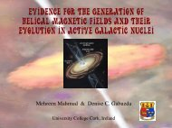 Evidence for the Generation of Helical Magnetic Fields and their ...