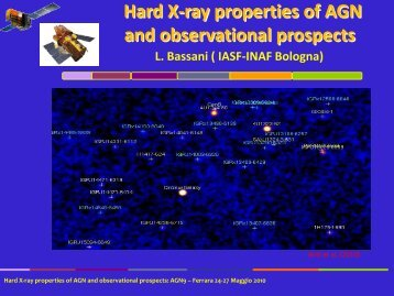 Hard X-ray properties of AGN and observational prospects L ... - Inaf