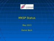 Status of the MKSP - Inaf