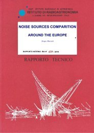 noise sources comparition around the europe - Inaf