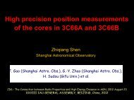 High precision position measurements of the cores in 3C66A and ...