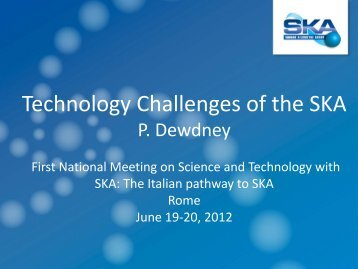 Technology challenges for the SKA