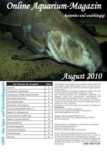 Aquaterra - Online Aquarium-Magazin