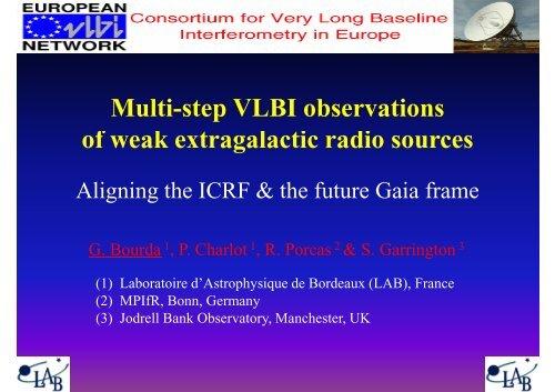 Multi-step VLBI observations of weak extragalactic radio sources