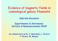 Evidence of magnetic fields in cosmological galaxy filaments - Inaf