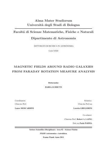Alma Mater Studiorum Universit`a degli Studi di Bologna ... - Inaf