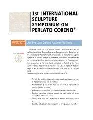 1st INTERNATIONAL SCULPTURE SYMPOSIUM ON ... - La Serra