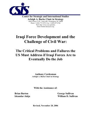 Iraqi Force Development and the Challenge of ... - IraqSolidaridad