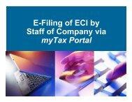 E-Filing of ECI by Staff of Company via myTax Portal - IRAS