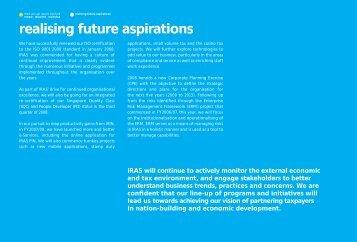 realising future aspirations - IRAS