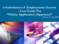 """e-Submission of Employment Income - User Guide For """"Online - IRAS"""