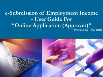 "e-Submission of Employment Income - User Guide For ""Online - IRAS"