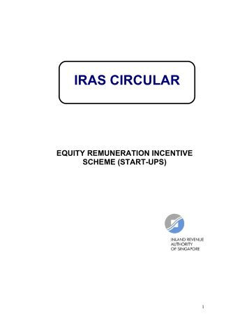 Equity Remuneration Incentive Scheme (Start-Ups) - IRAS