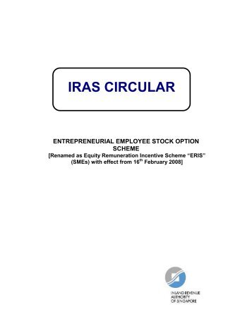 Entrepreneurial Employee Stock Option Scheme - IRAS