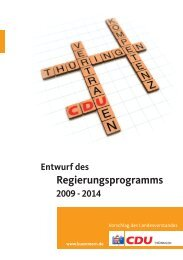 Entwurf des Regierungsprogramms 2009-2014 - CDU Deutschlands