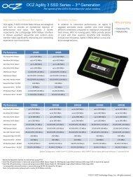 OCZ Agility 3 SSD Series  – 3rd Generation