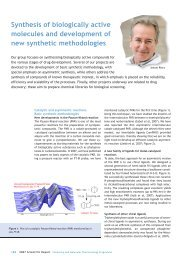 Synthesis of biologically active molecules and ... - IRB Barcelona