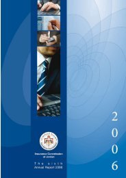 Annual Report for 2006 - Insurance Commission