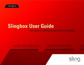 Slingbox instruction manual