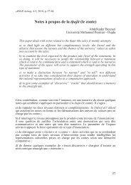 Notes à propos de la WKD MLW (le conte)