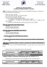 (Extrait PV & Résultat définitif AO 10 -2009) - Institut Royal de la ...