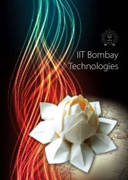 IRCC Booklet on IIT Bombay Technologies- December, 2011