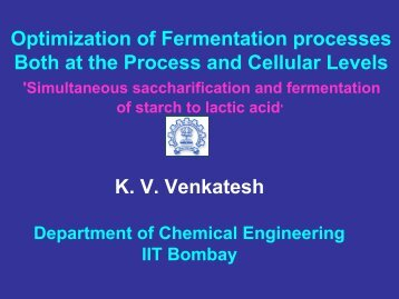 Simultaneous saccharification and fermentation of starch to ... - IRCC