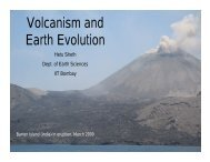 Title: Volcanism and earth evolution - IRCC