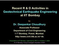 Recent R & D Activities in Geotechnical Earthquake ... - IRCC