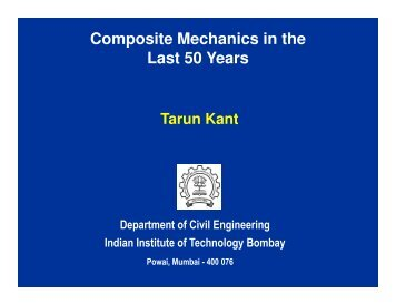 Composite Mechanics in the Last 50 Years - IRCC - Indian Institute ...