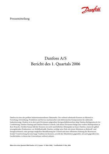Danfoss A/S Bericht des 1. Quartals 2006