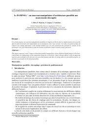 Le PAMINSA1 : un nouveau manipulateur d'architecture ... - IRCCyN