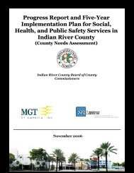 Countywide Needs Assessment - Indian River County