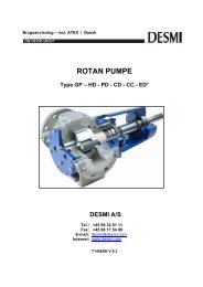 ROTAN PUMPE Type GP – HD - Desmi