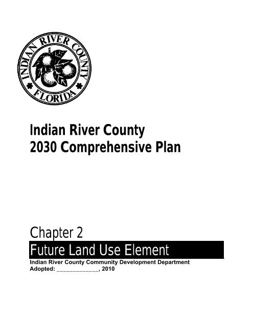 future land use map - Indian River County