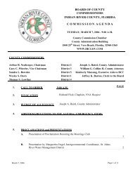 Indian River County Board of County Commission 03/07/06 Agenda ...