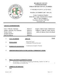 Board of County Commissioners meeting agenda 10/09/07