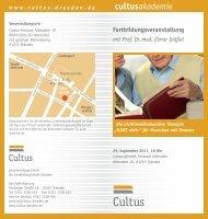 medikamentöse Therapie »MAKS aktiv - Cultus ggmbh Dresden