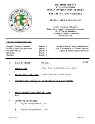 board of county commissioners indian river county, florida ...