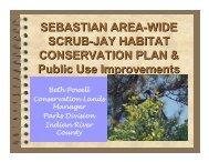 sebastian area-wide scrub-jay habitat conservation plan