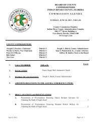 Indian River County Board of County Commissioners Meeting ...