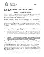 guide to filling the return & schedules - sri lanka inland revenue ...