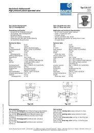 Hochdruck-Kolbenventil Typ 116 - 117 - Daume Regelarmaturen ...