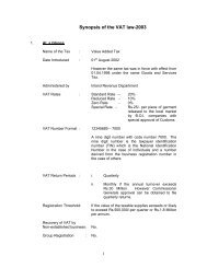 Synopsis of the VAT law-2003 - sri lanka inland revenue department ...