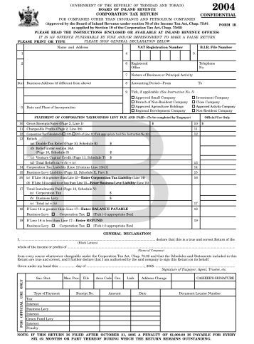 inland revenue tax return form