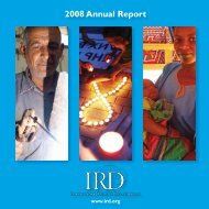 2008 Annual Report - International Relief & Development
