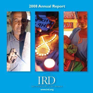 2008 Annual Report - International Relief & Development