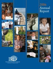 2006 - International Relief & Development
