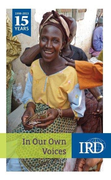 This brief publication - International Relief & Development