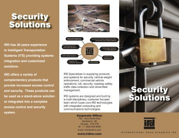 Security Solutions Security Solutions